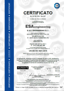 ESA engineering - ISO 9001-2015